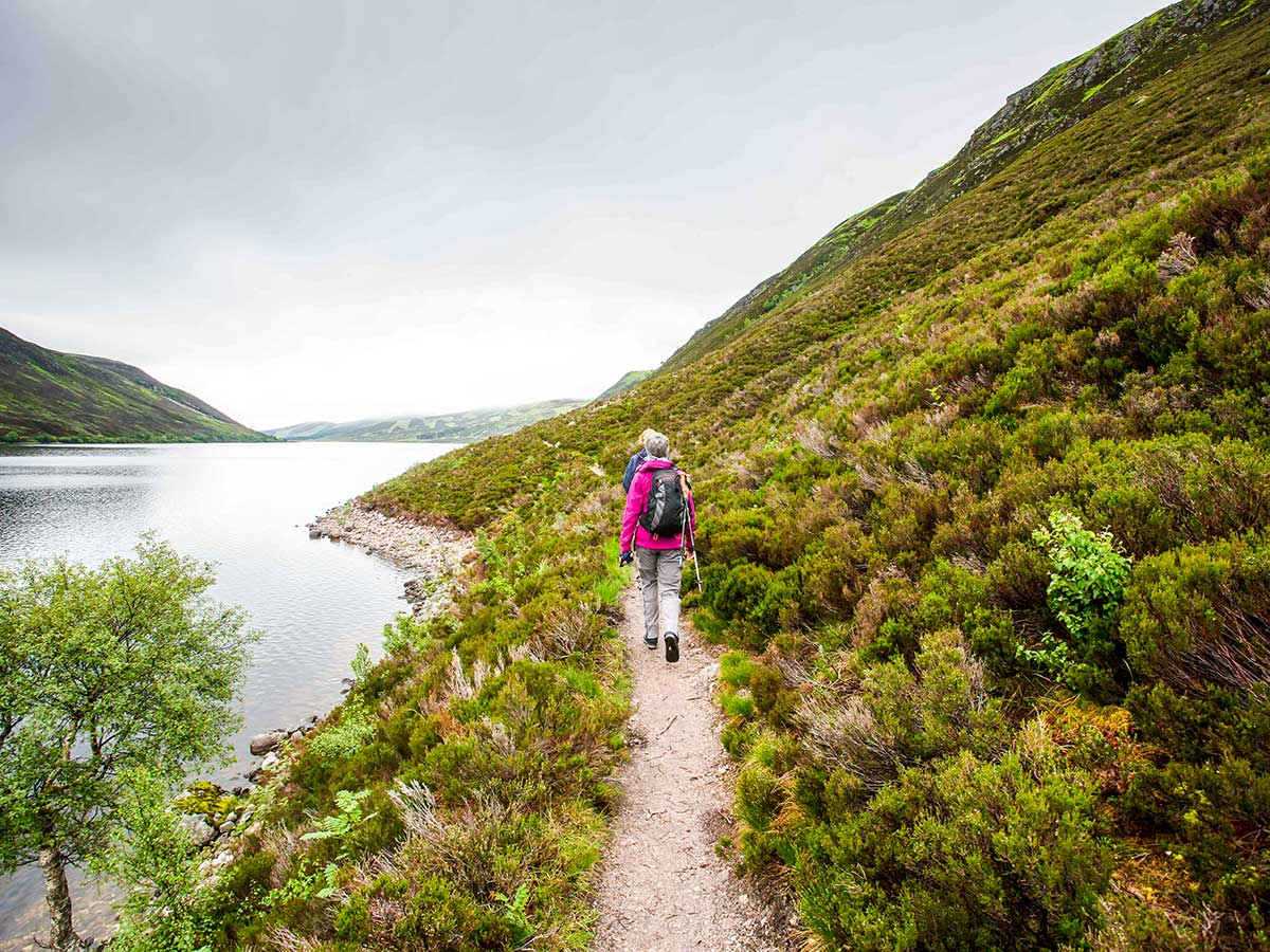 Path along the lake on National Parks of the UK Guided Walking Tour