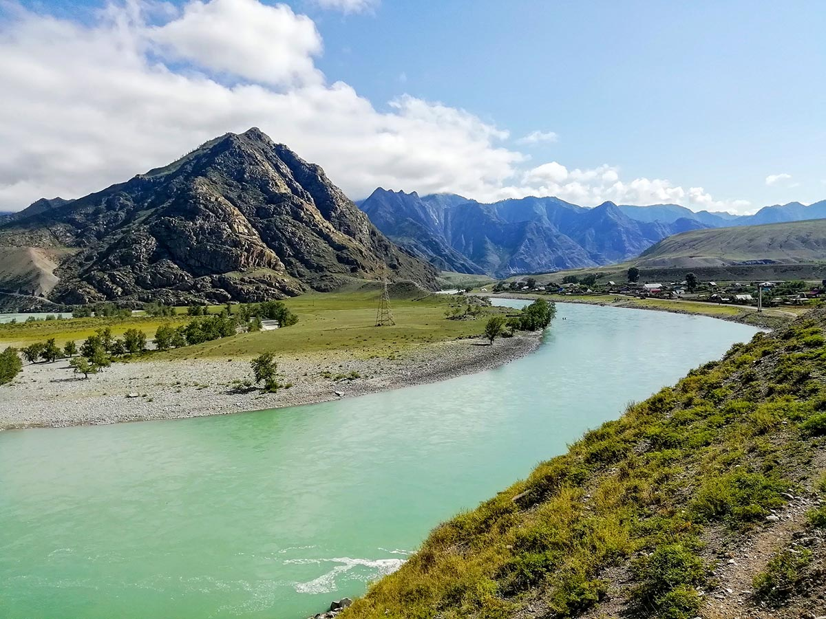Lake Kucherla seen on Golden Ring of Altai Trek in Russia