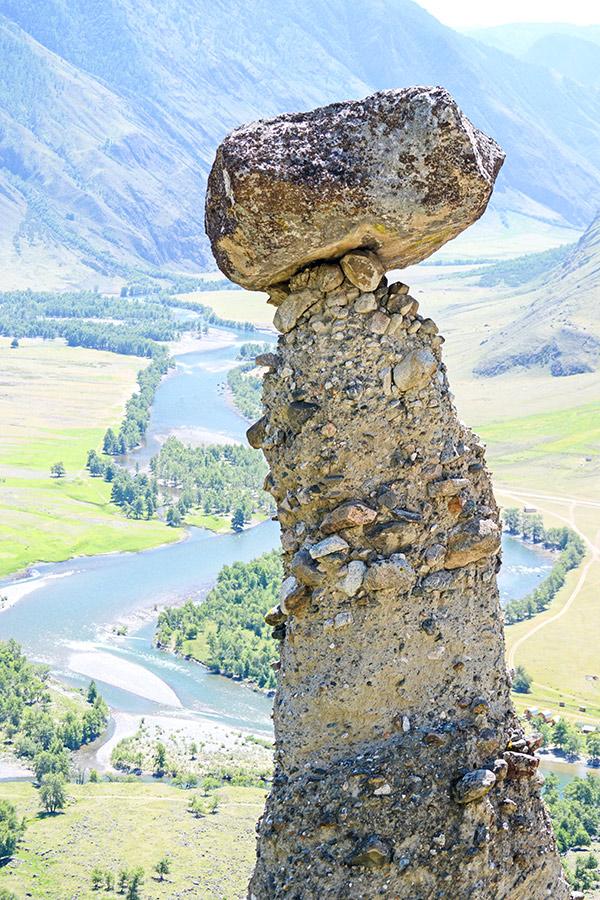 Rock formations seen on Golden Ring of Altai Trek in Russia