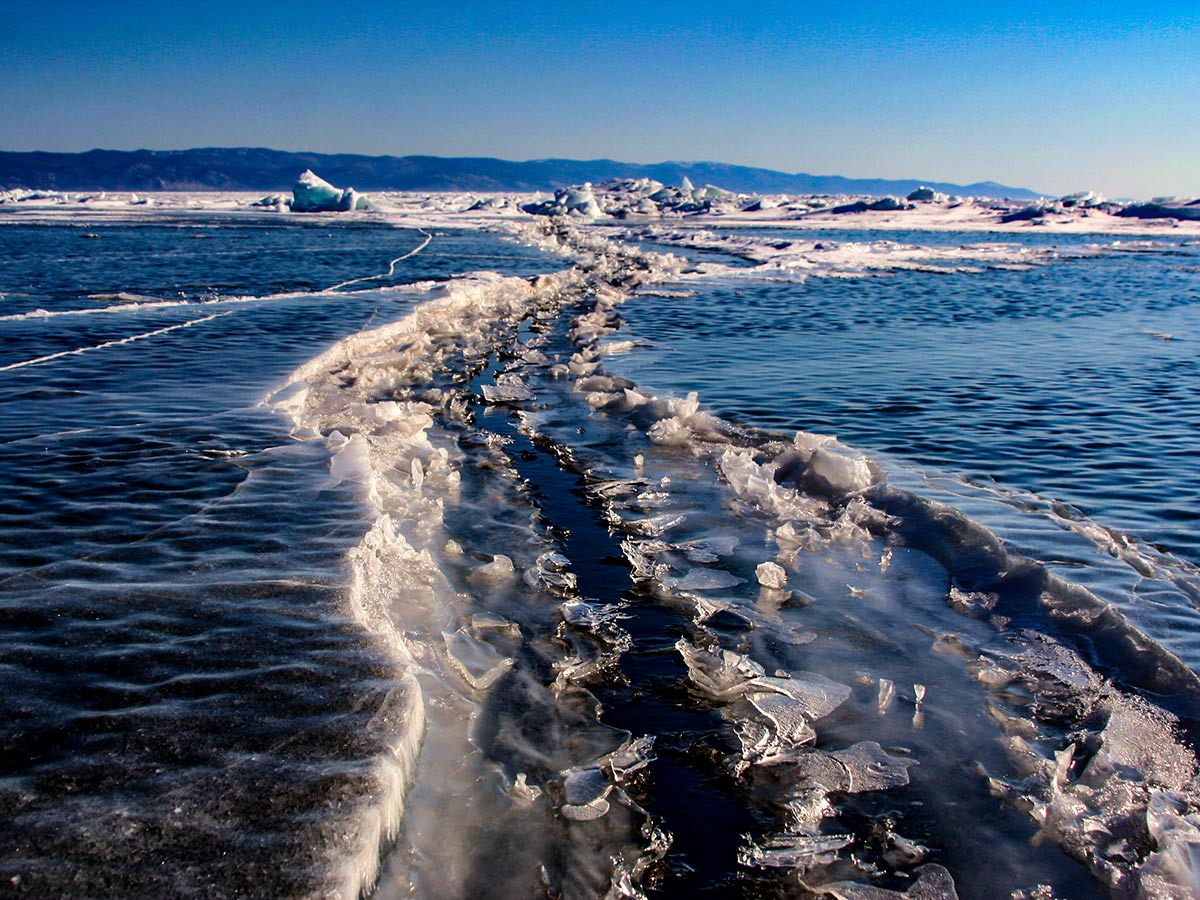 Crossing the Lake Baikal is a wonderful adventure in Russia