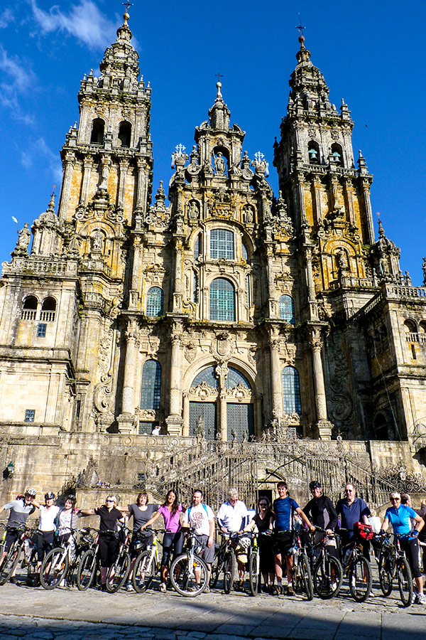 Santiago de la Compostela is the goal of French Camino Biking Tour with guide