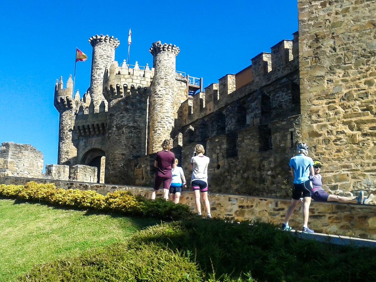 Castillo de Los Templarios seen in Leon where French Camino Biking Tour starts