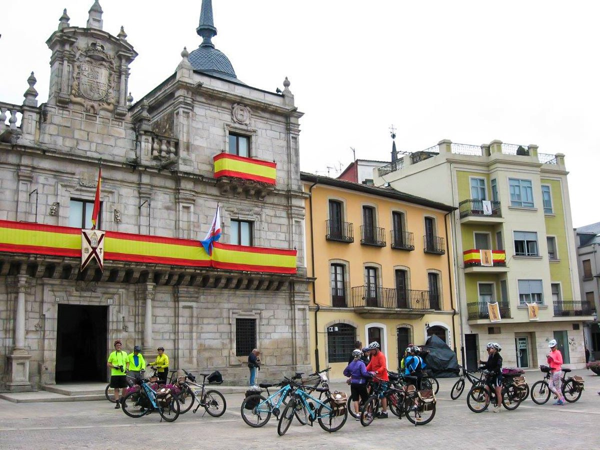 Rest in one of the cities along French Camino Biking Tour