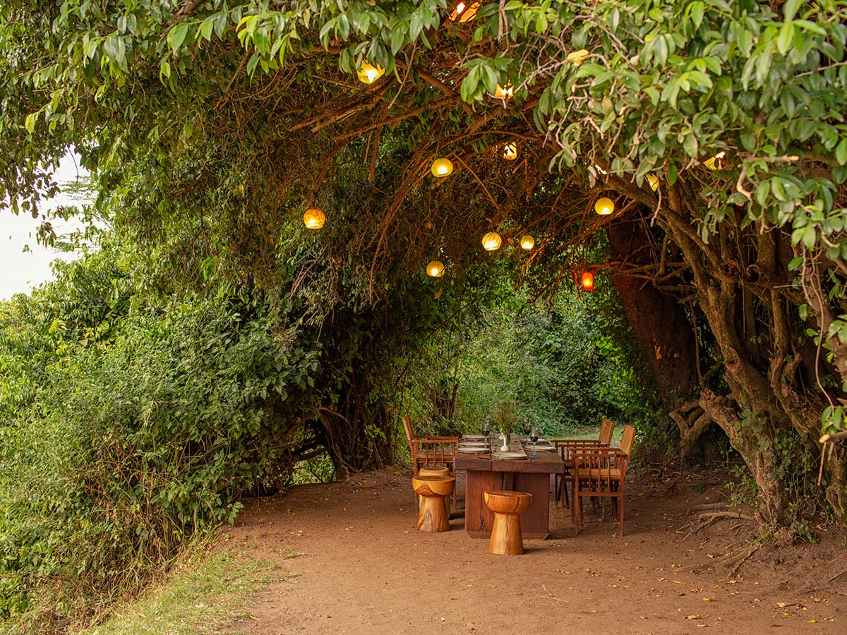 Lunch time in one of the beautiful camps on Classic Safari Nyota Tour