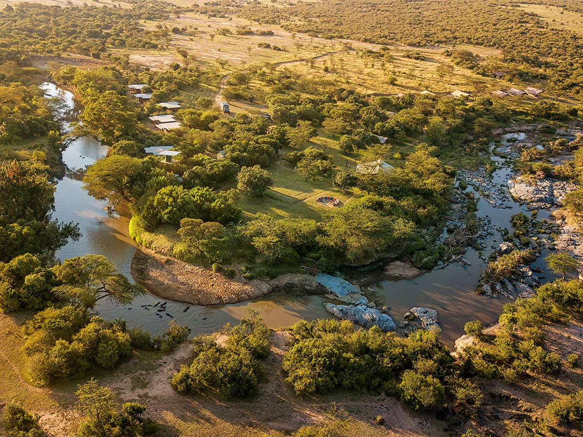 Beautiful river near one of the campsites in Kenya and Tanzania