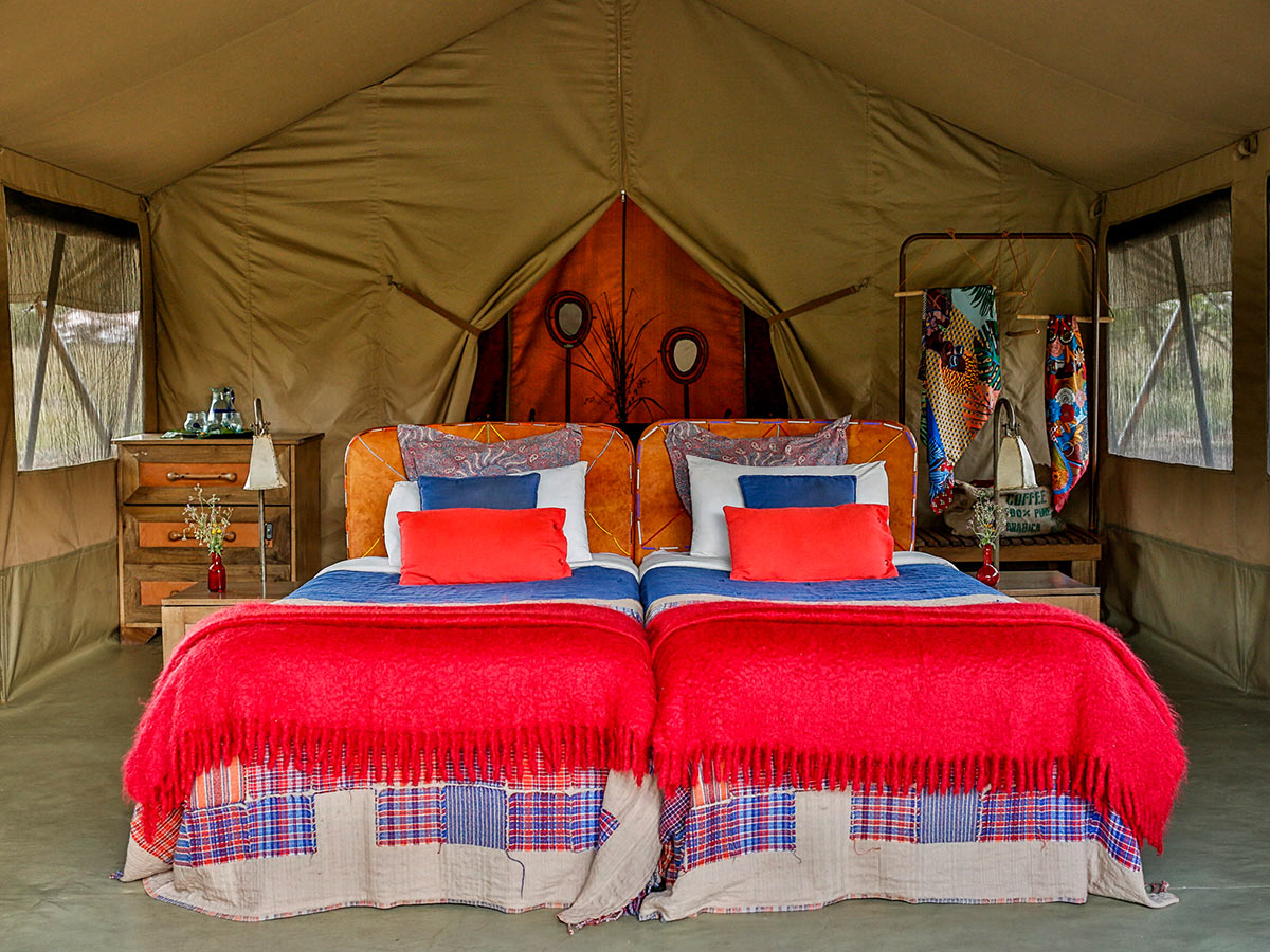 Luxurious tent in one of the parks on Classic Safari Nyota Tour in Kenya and Tanazya