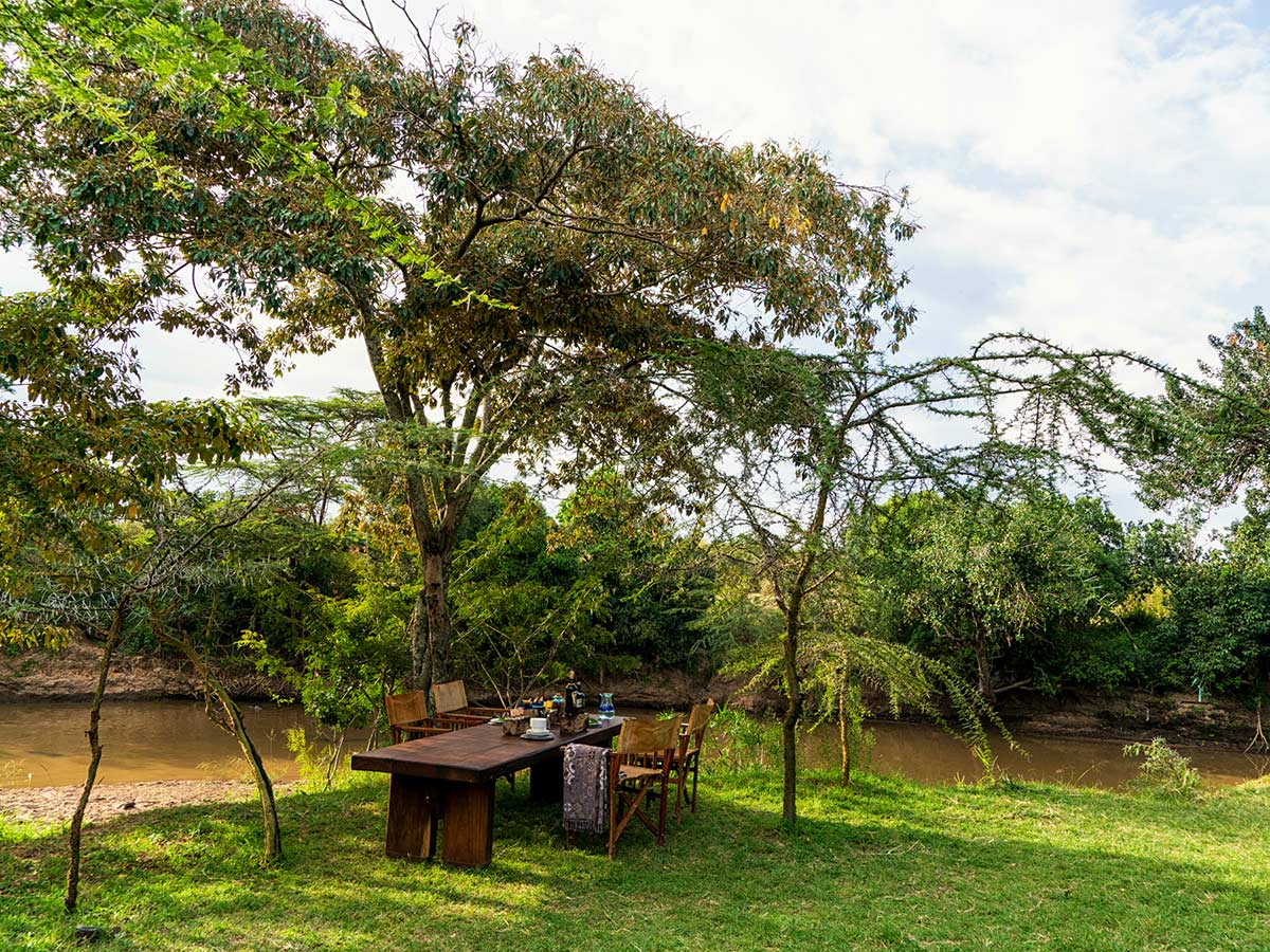 Lunch table in one of campsites on Tanazia and Kenia Safari