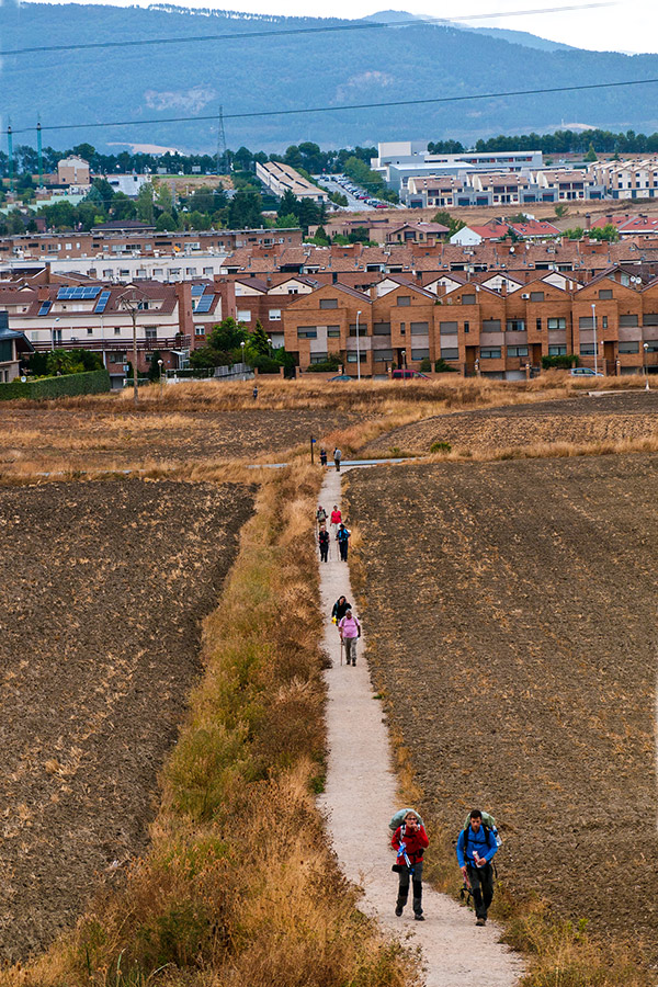 Approaching Pamplona while on Cycling the French Camino Full Route tour