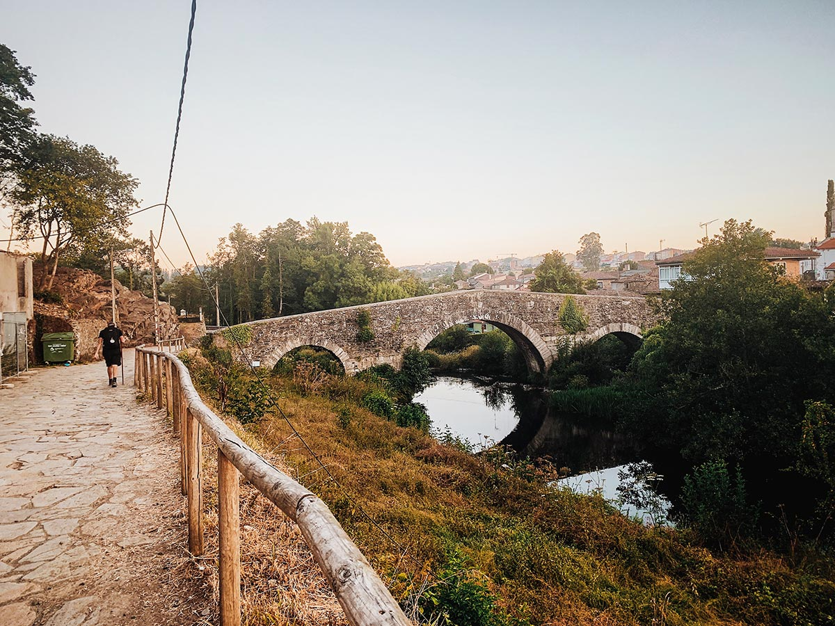 Old bridge in Northern Spain seen on Cycling the French Camino Full Route tour