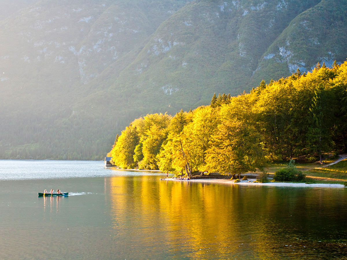 Autumn near the lake Bled in Slovenia seen on Best Walks in Slovenia Tour