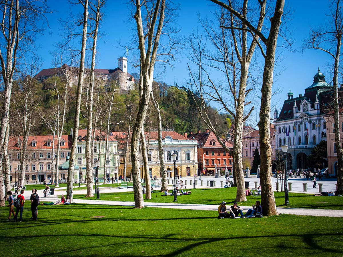 Town centre on Best Walks in Slovenia Tour
