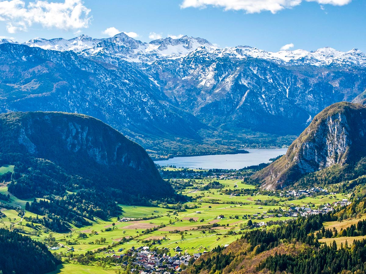 Expansive valley views seen on Best Walks in Slovenia Tour