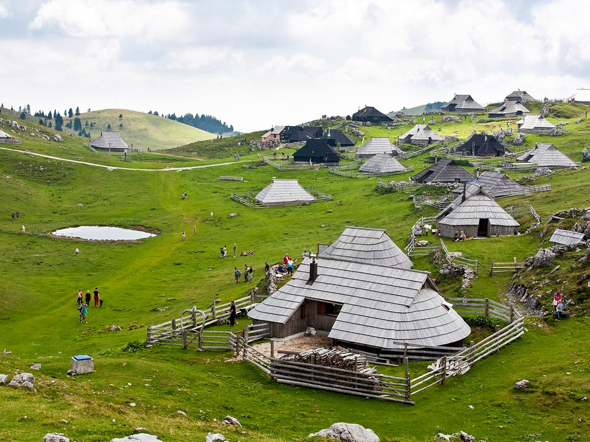 Visiting Velika Planina is included in Best Walks in Slovenia Tour with a guide