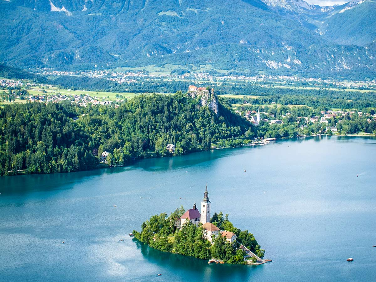 Lake Bled in Slovenia on Discover Slovenian Alps Tour