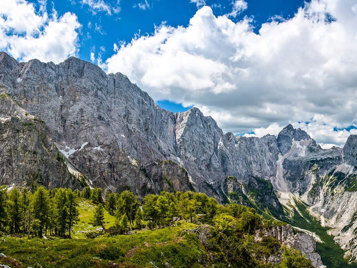 Views around Slemencova Spica seen on Discover Slovenian Alps Tour with a guide
