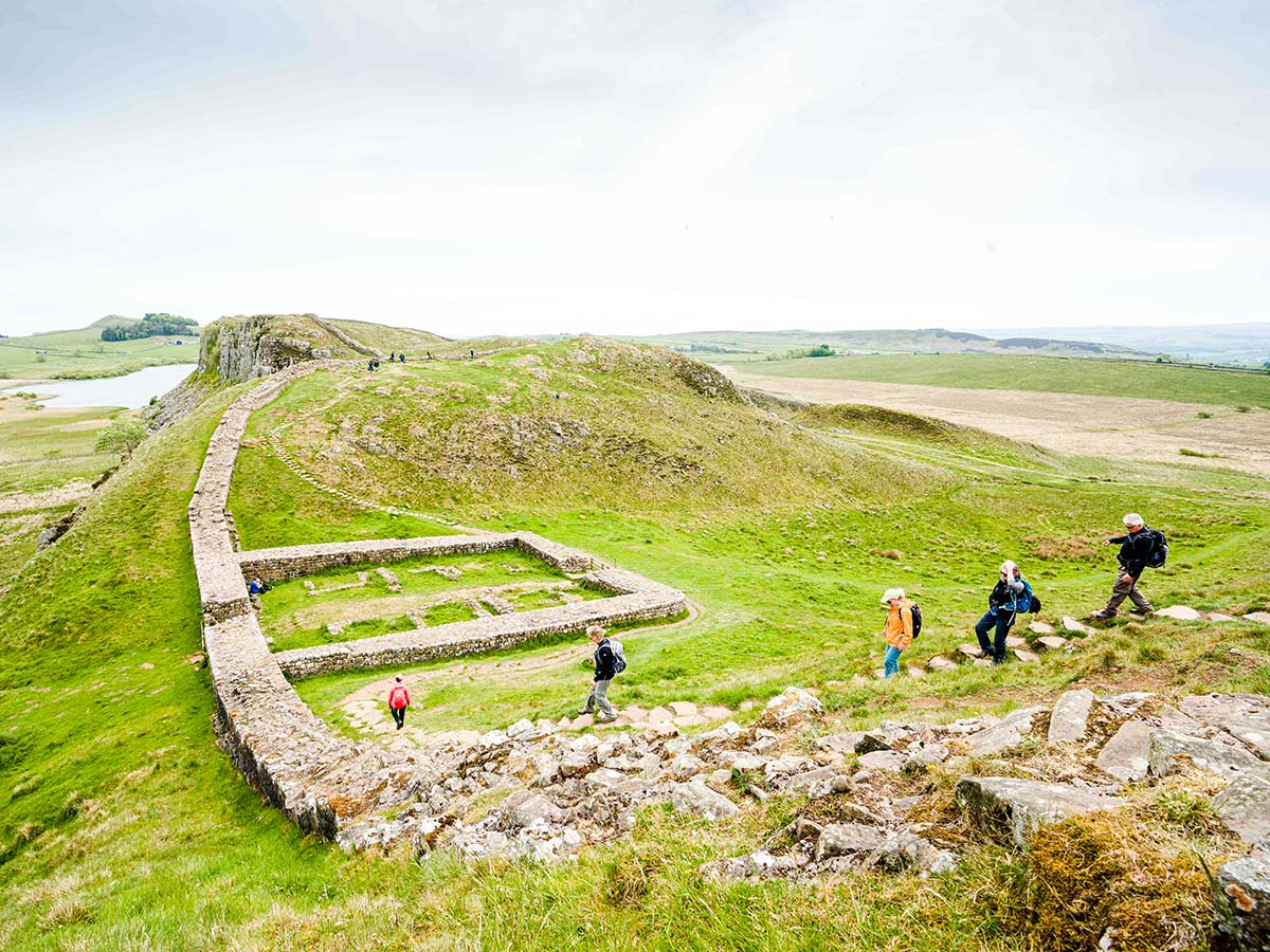 Archeologic site visited on Northumberland and the Lake District guided walking tour