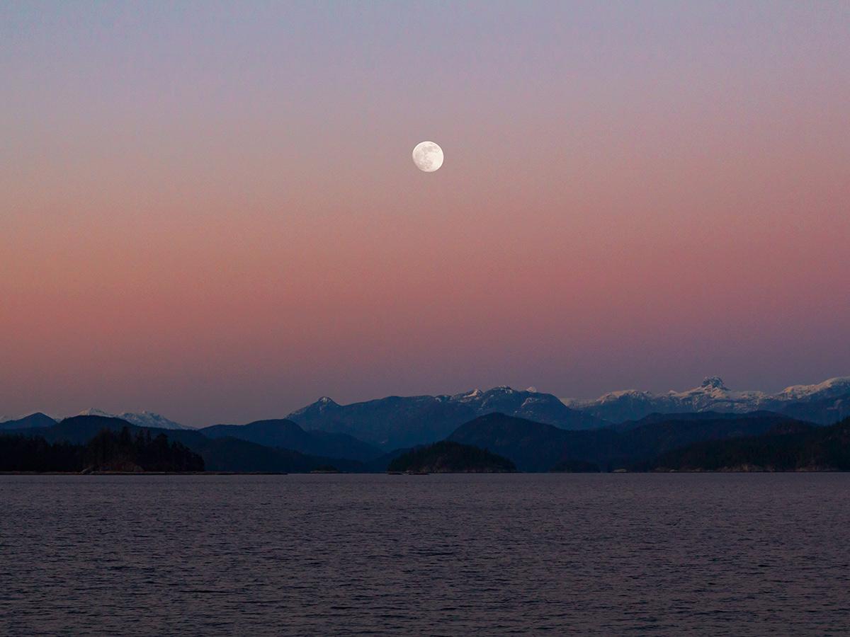 Island Joy Rides Self guided biking in Vancouver Island Sunset over Quadra Island BC