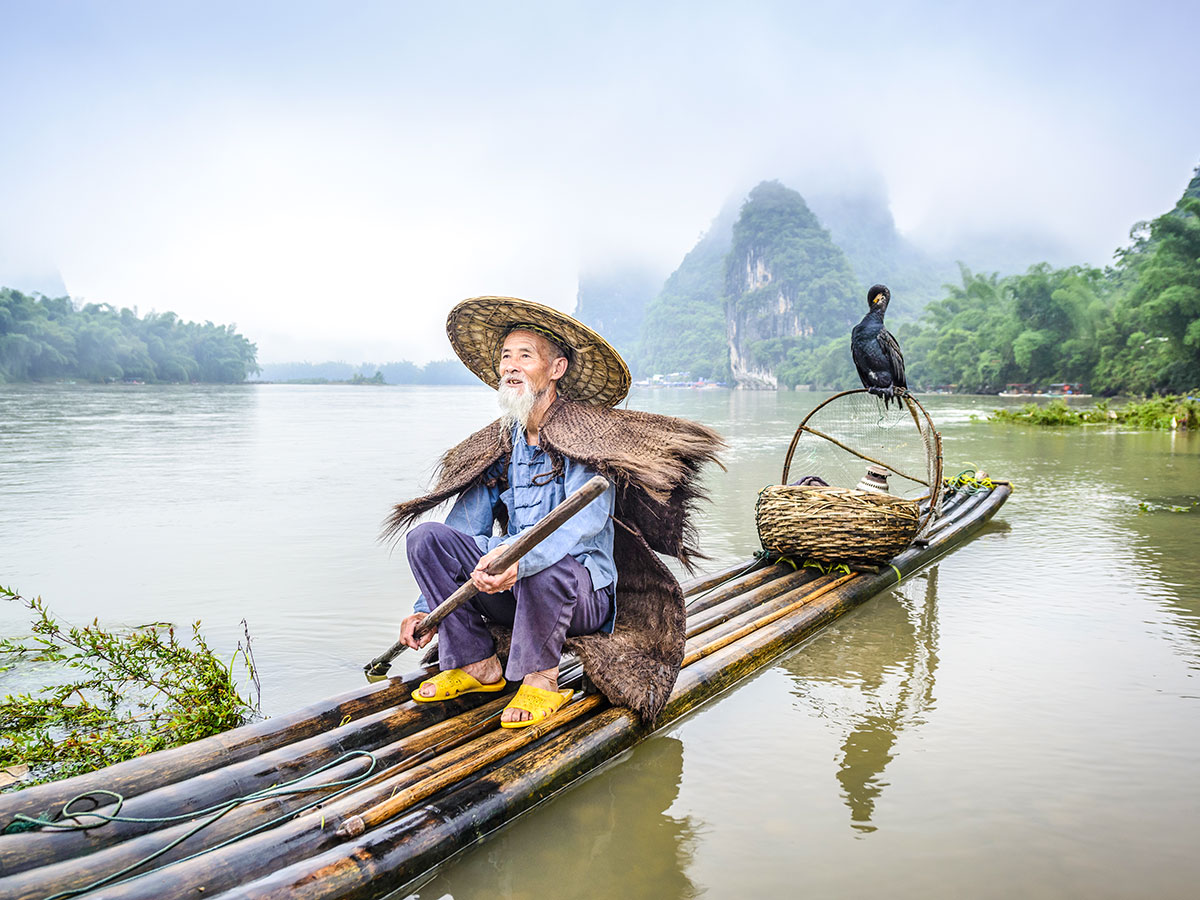Yangshuo region in china is famous for it's nature and stunning views