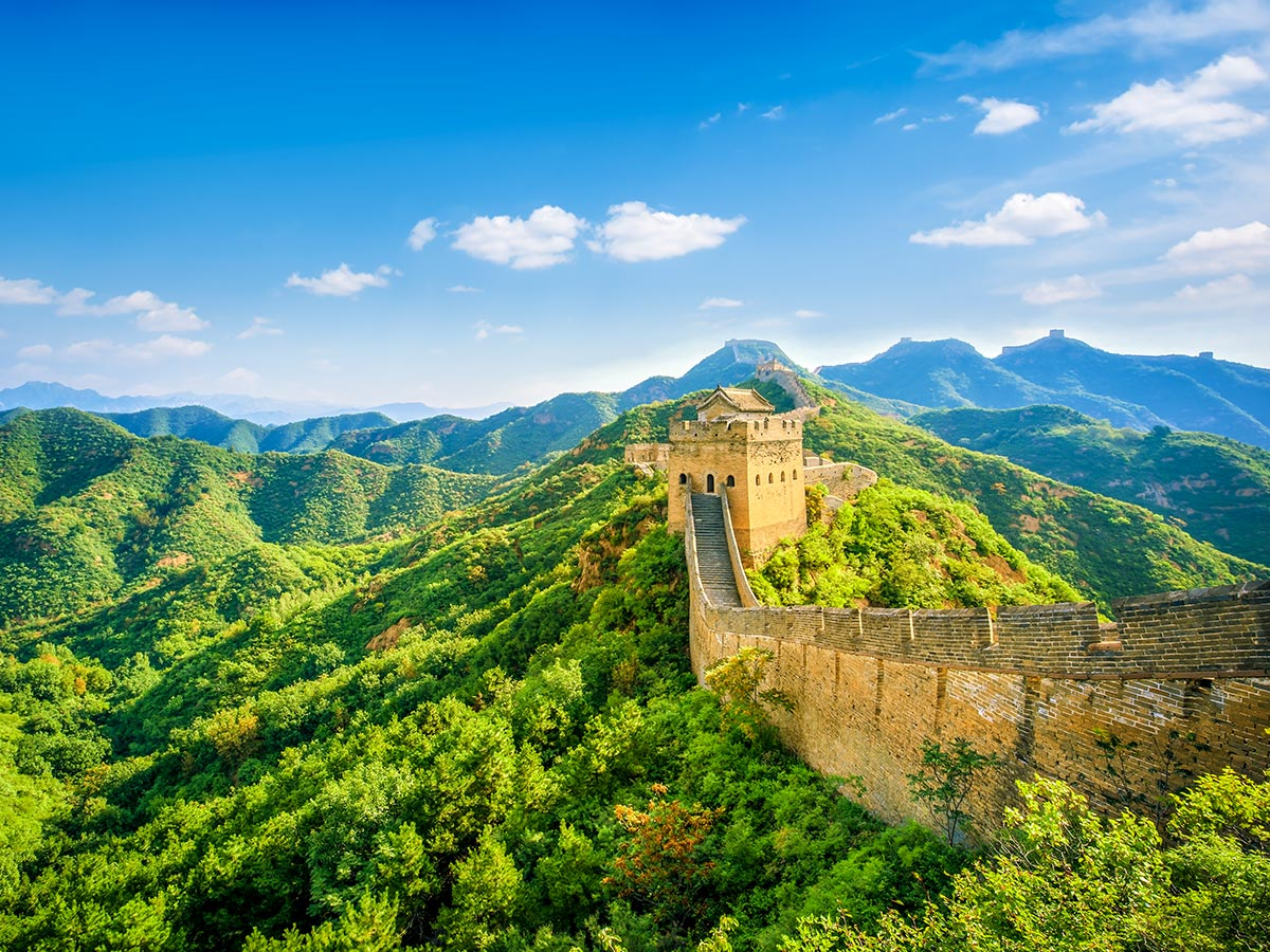 China by Bike and Backroads to Guilin Tour includes visiting the famous Great Wall