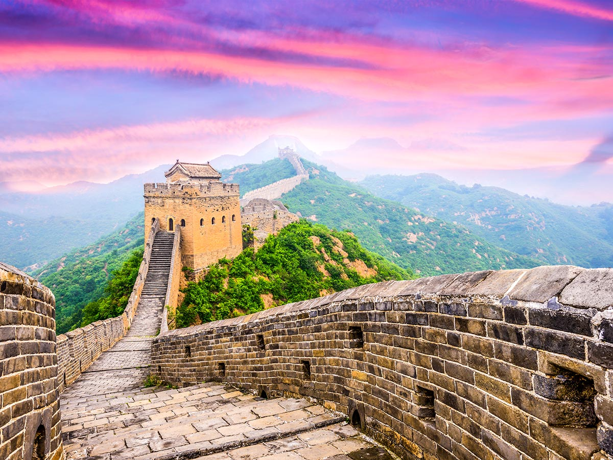 Visiting the Great Wall in China is a must while on China by Bike and Backroads to Guilin