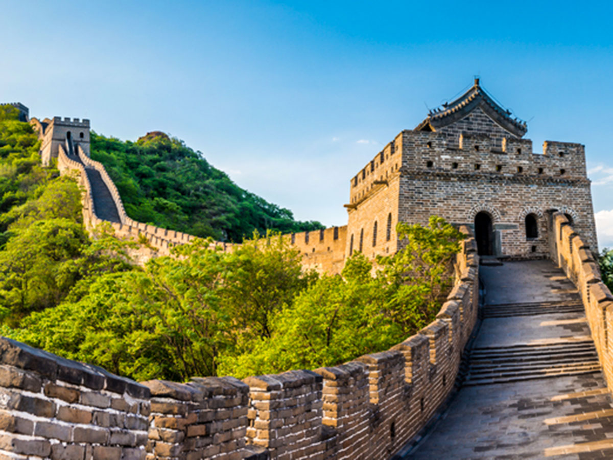 Panoramic view of the Great Wall on Discover China Tour