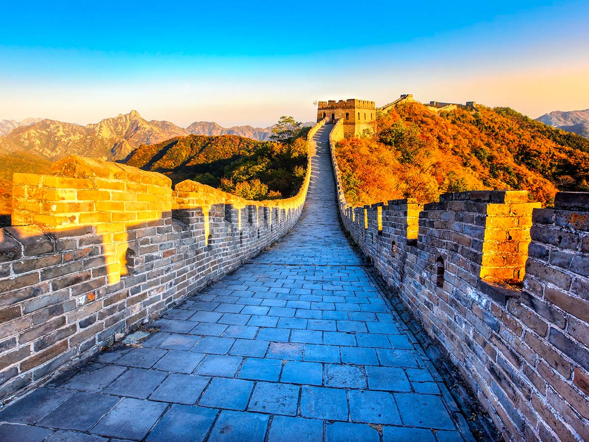 Walking on the Great Wall during the sunrise is an amazing experience of the Wild China Tour