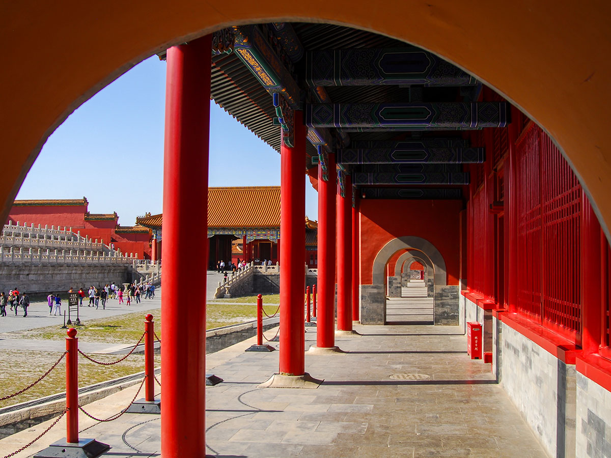 You will see a lot of red color in Beijings architecture on Wild China Tour