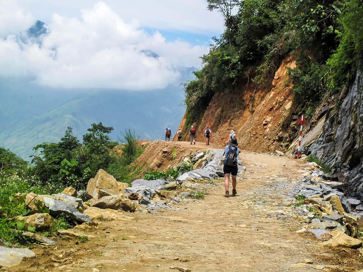 North Vietnam Mountain Trek includes trekking on remote paths