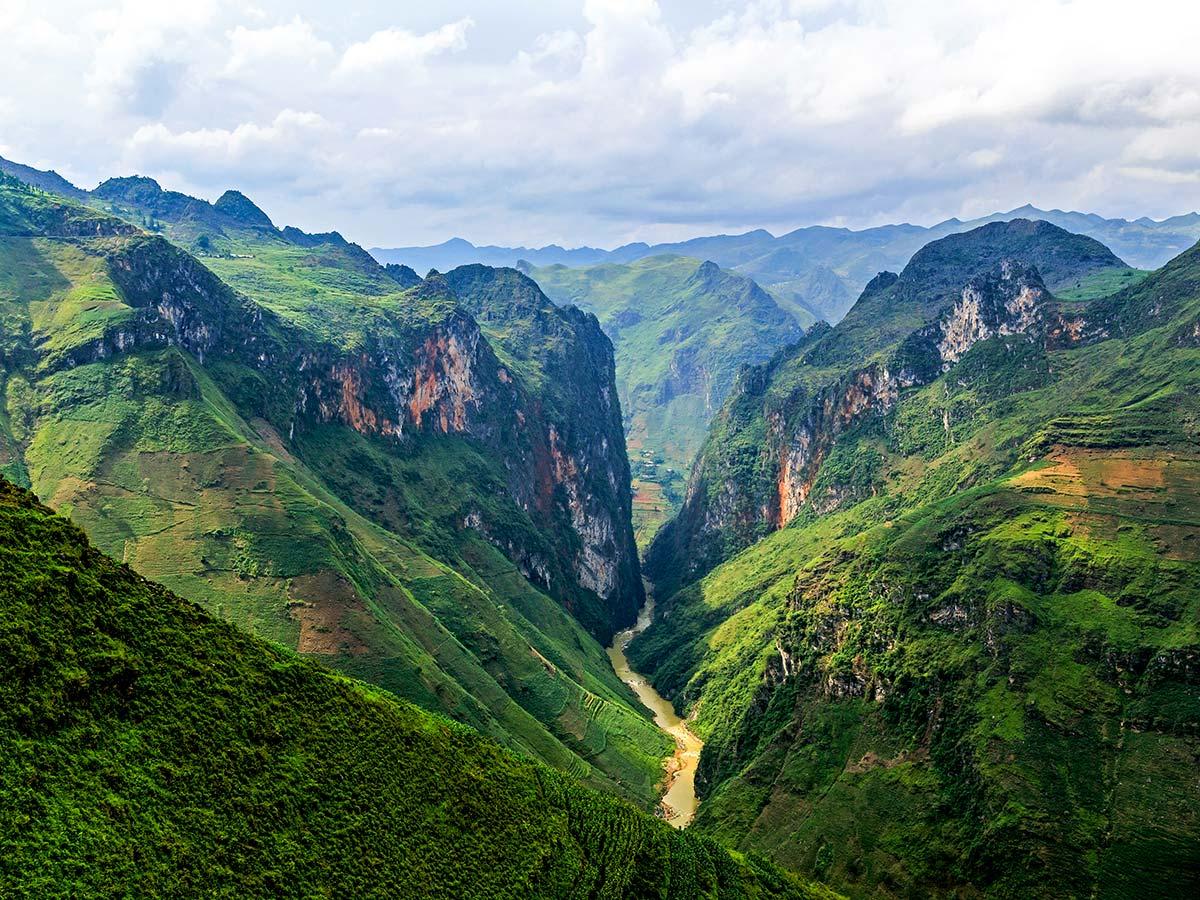 Northern Vietnam Mountain Biking Tour visiting the Dong Van District