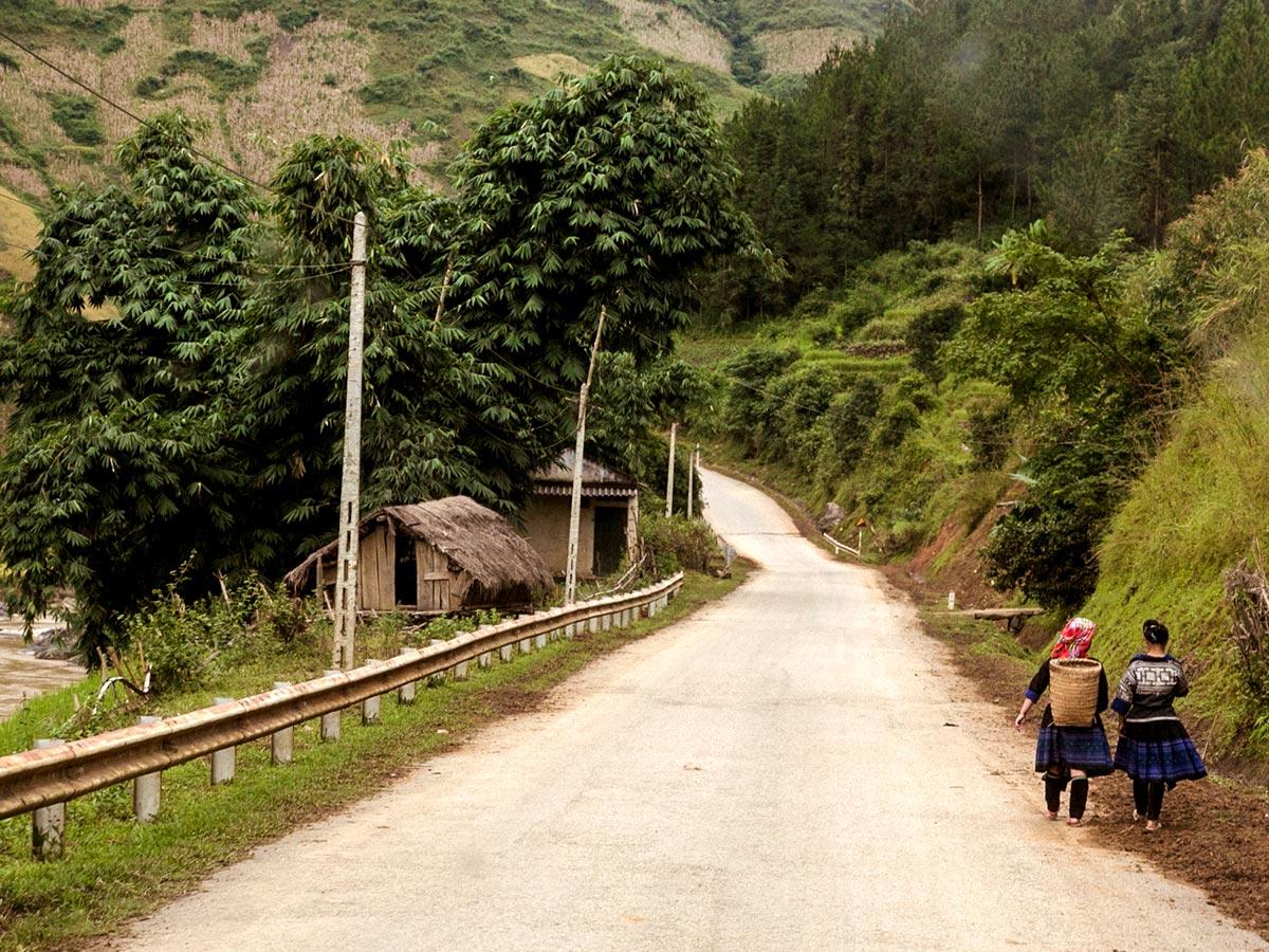 Wide path of North Vietnam Mountain Trek