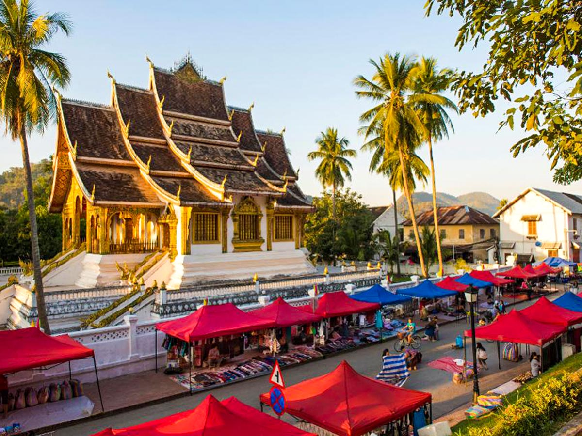 Cycling Up North to Laos in Vietnam include visiting the beautiful Luang Prabang