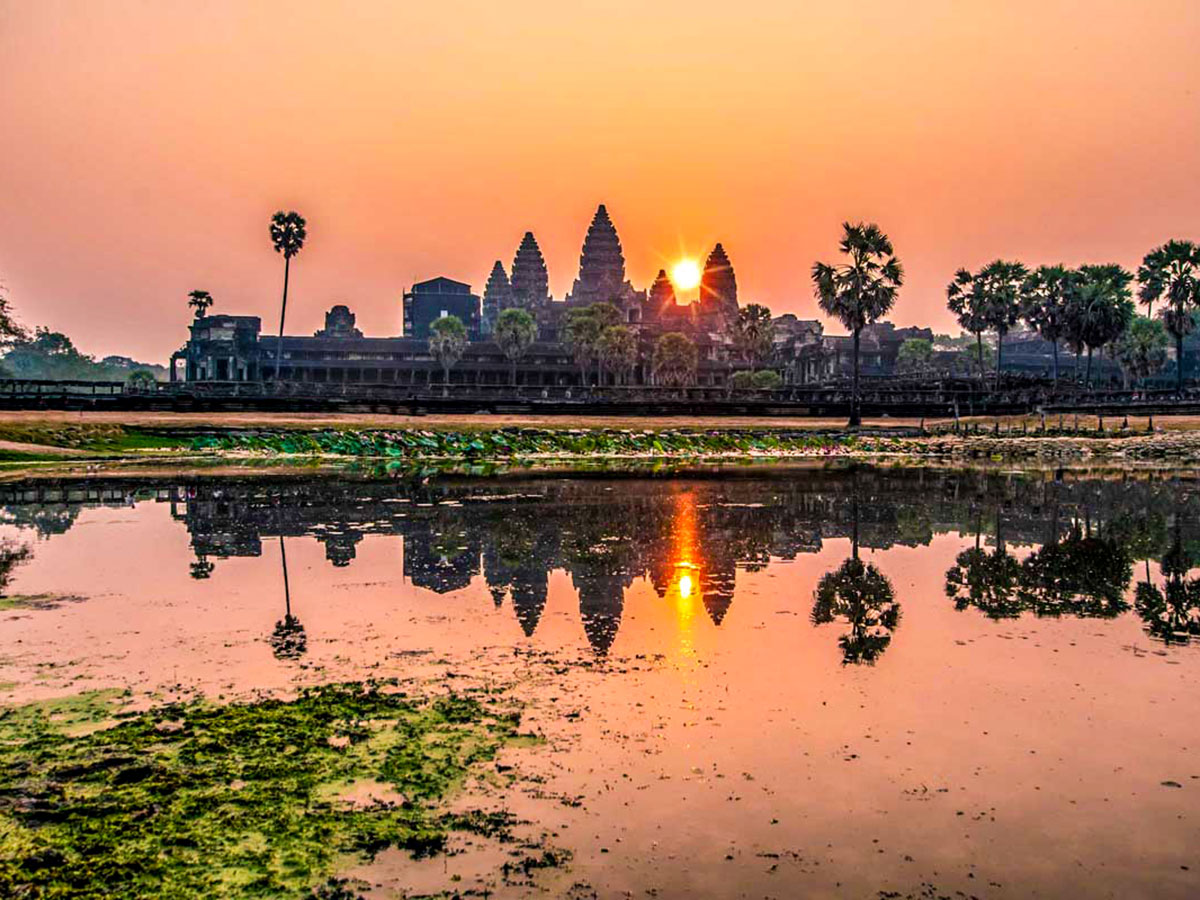 Sunrise at Angkor Wat as seen on The Majestic Beauty of Indochina Tour