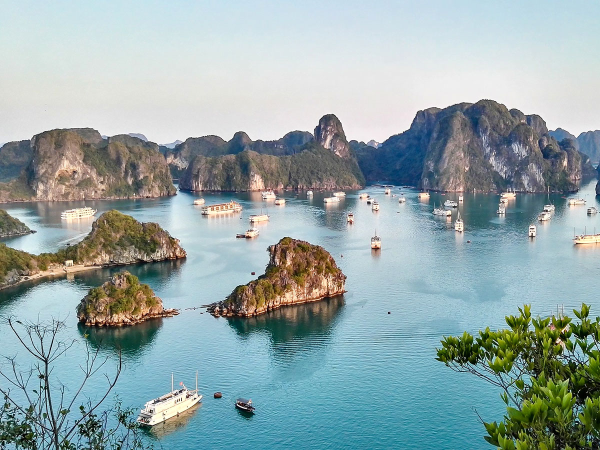 Halong Bay as seen on The Majestic Beauty of Indochina Tour
