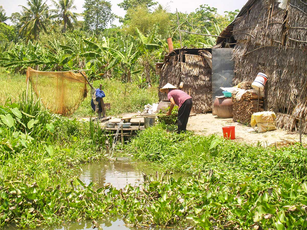 Rural life of the Mekong Delta as seen on The Majestic Beauty of Indochina Tour