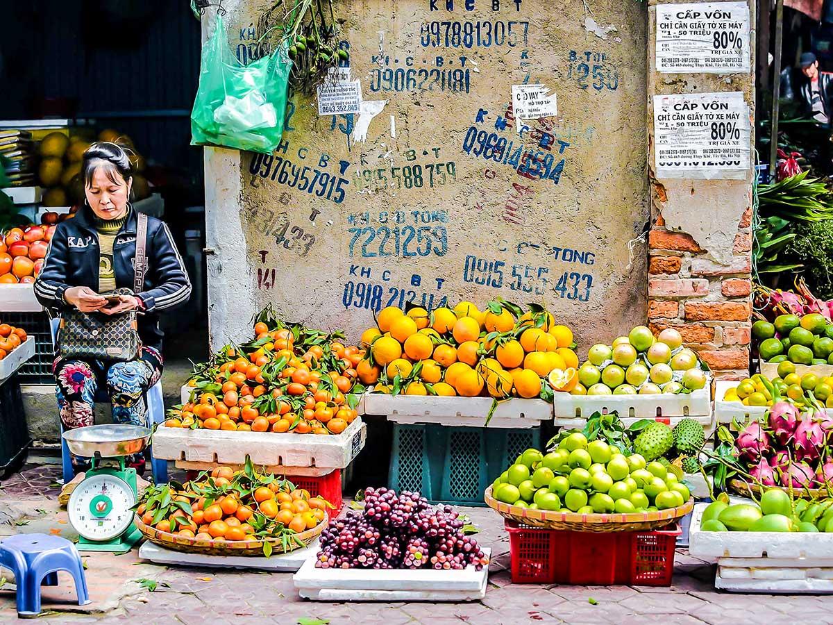 Hanoi local street fair visited on Vietnam Life and Cuisine Tour