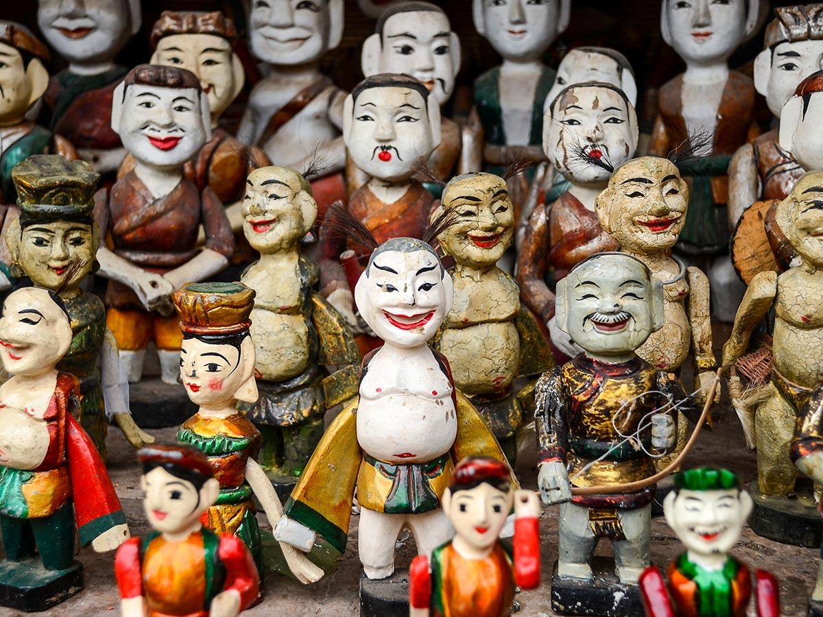 Water Puppet Show seen on Vietnam Natural Treasure Tour