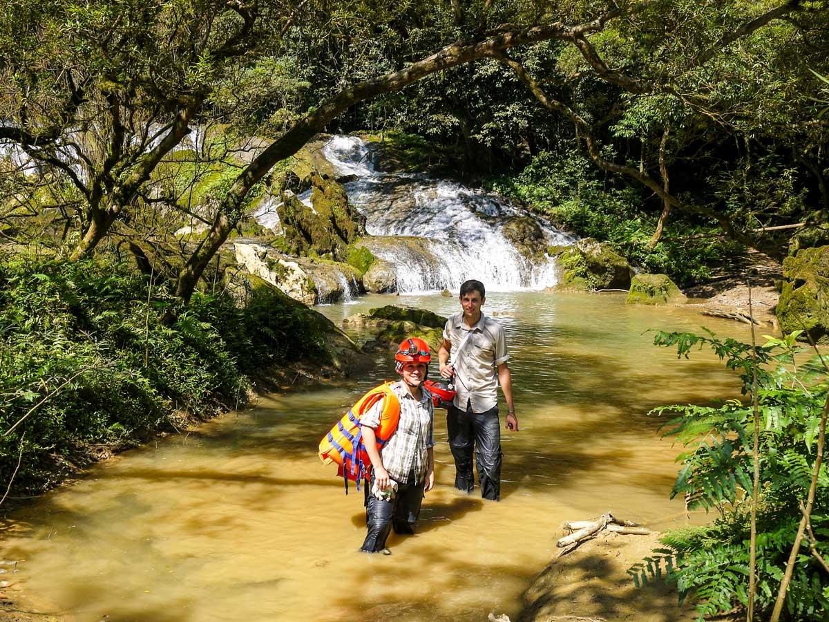 On a way to Tu Lan cave on Vietnam Natural Treasure Tour