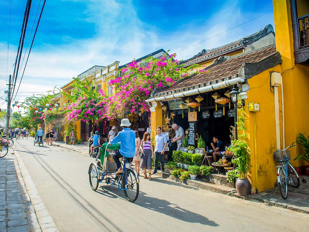 Streets of Hoi An village can be seen on Soft Eco Adventure Tour in Vietnam