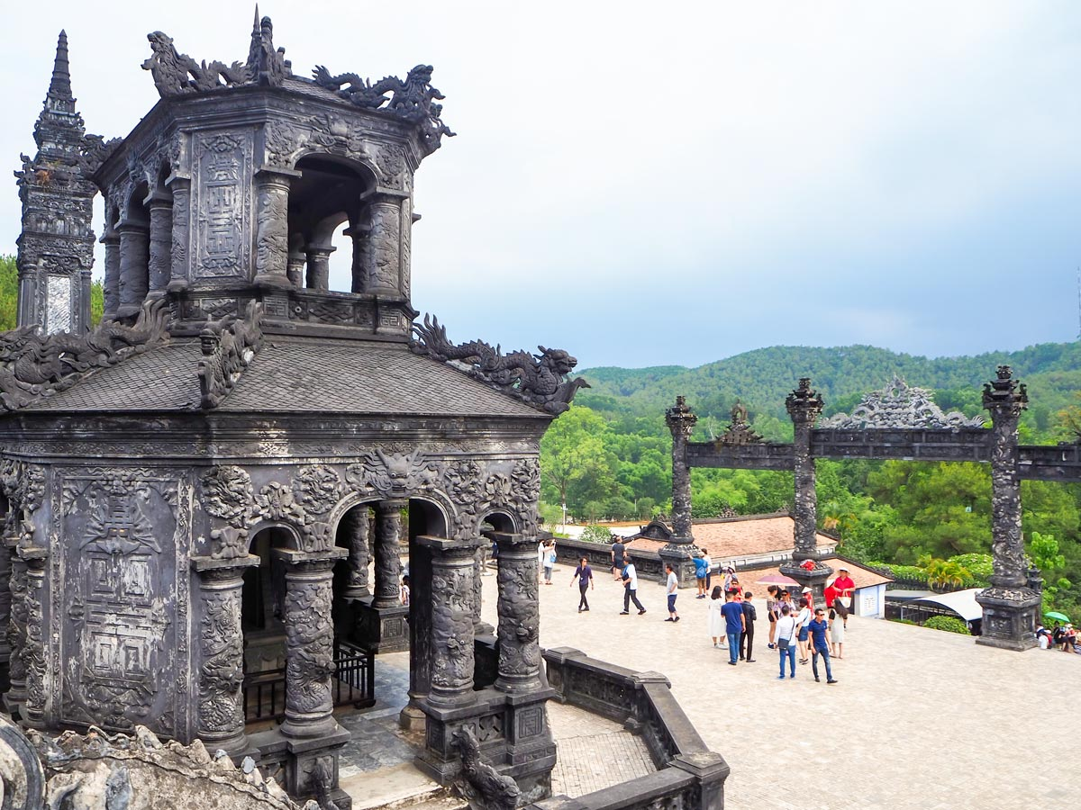 King Tomb Hue seen on Soft Eco Adventure in Vietnam