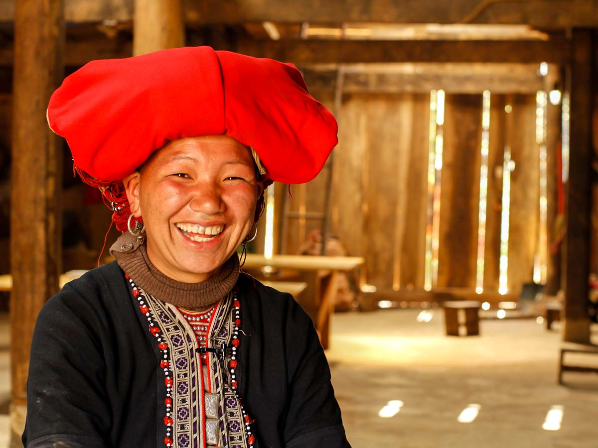 The member of Sapa hill tribe met on Soft Eco Adventure in Vietnam