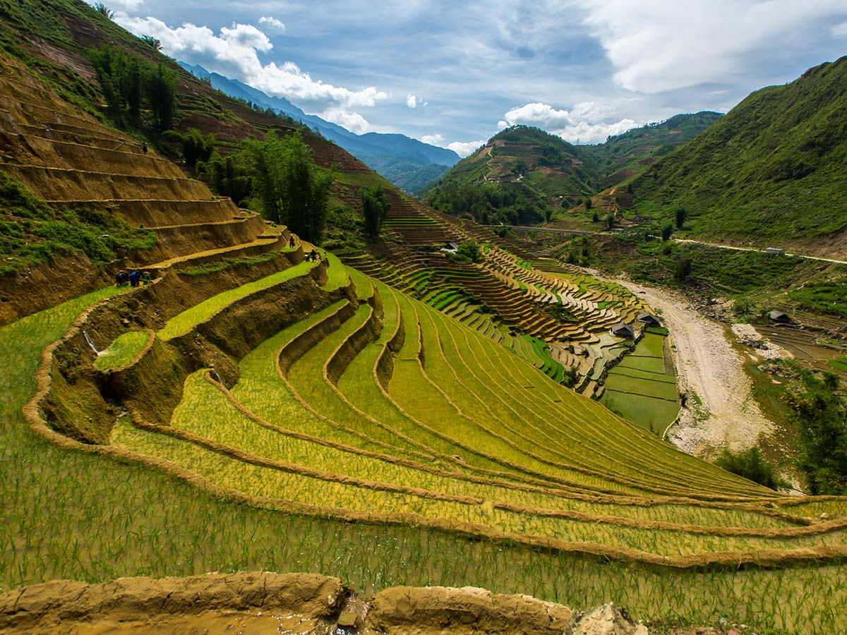 Panoramic view for the Sapa that can be seen on Soft Eco Adventure Tour