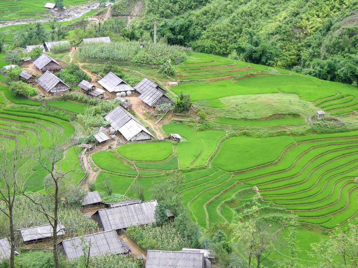 Soft Eco Adventure in Vietnam include visiting Sapa village with its beautiful terraces