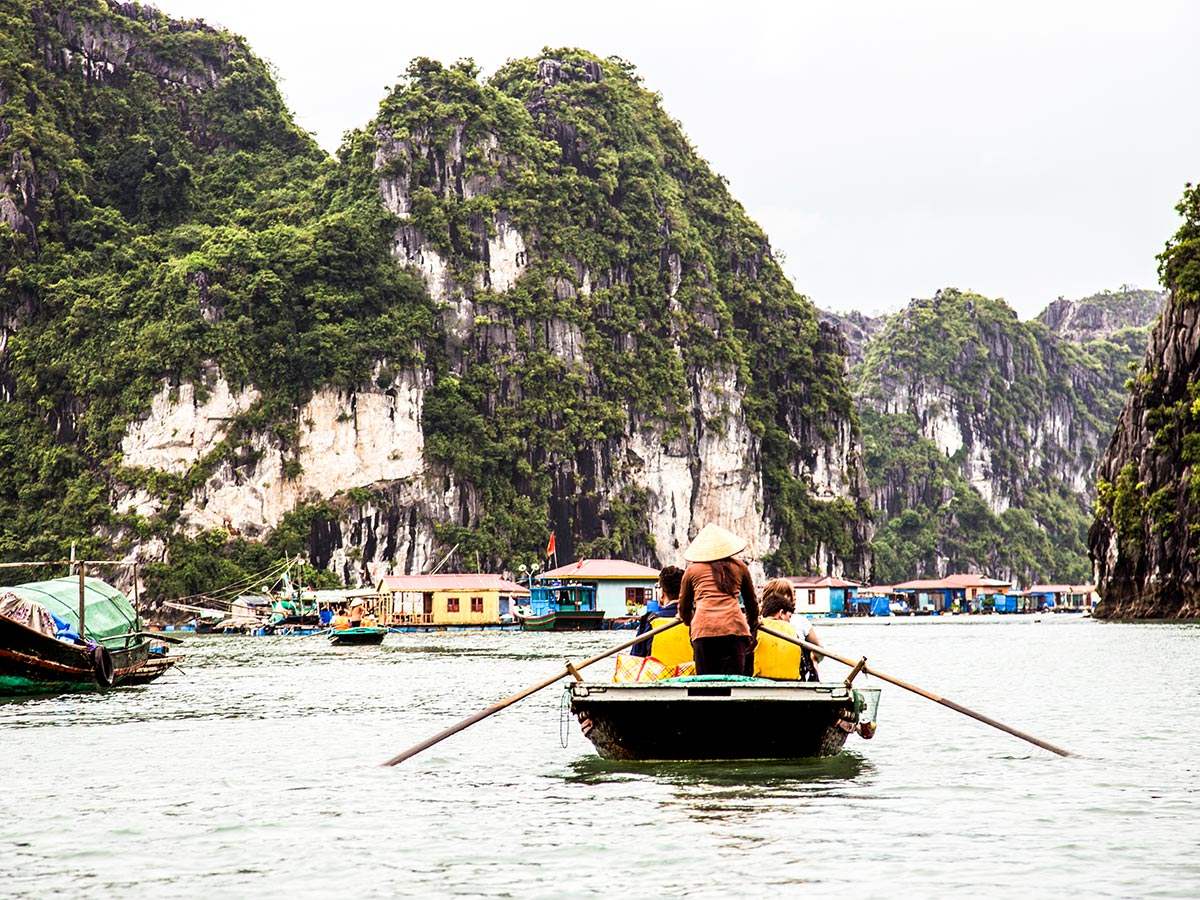 Swimming in Halong Bay is one of the highlights of Best of Vietnam Trek