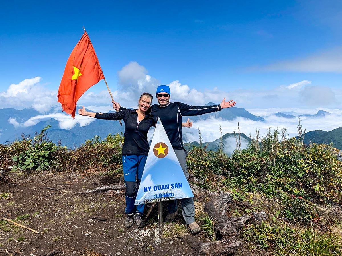Top of Ky Quan San on Best of Vietnam Trekking and Cruising Tour