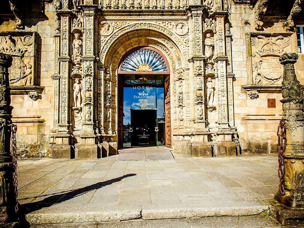 Parador de Santiago is a wonderful hotel you get to stay while on Camino de Santiago Portuguese Way