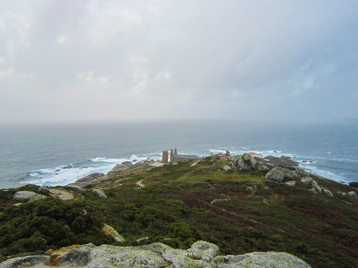 Rocky coast near Finisterre Way
