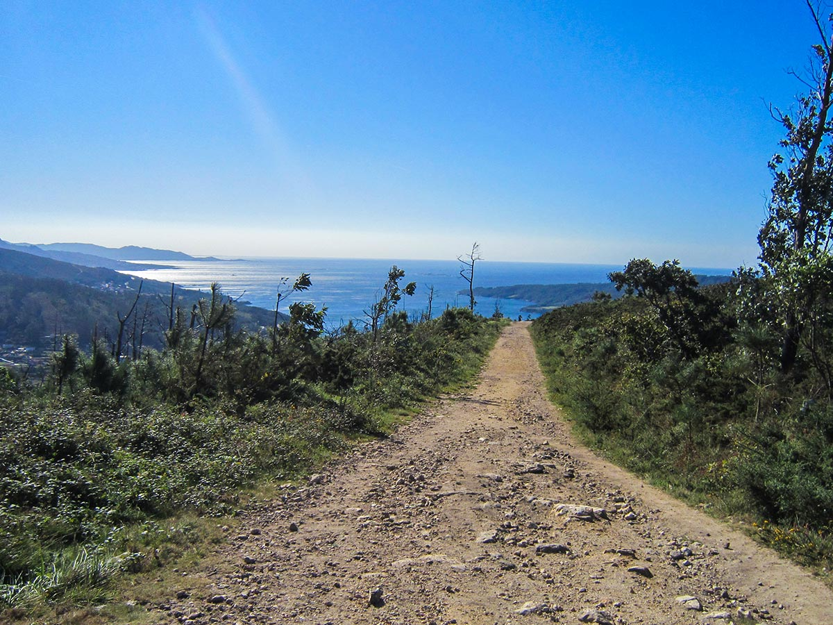 Beautiful coastal views along the Finisterre Way route