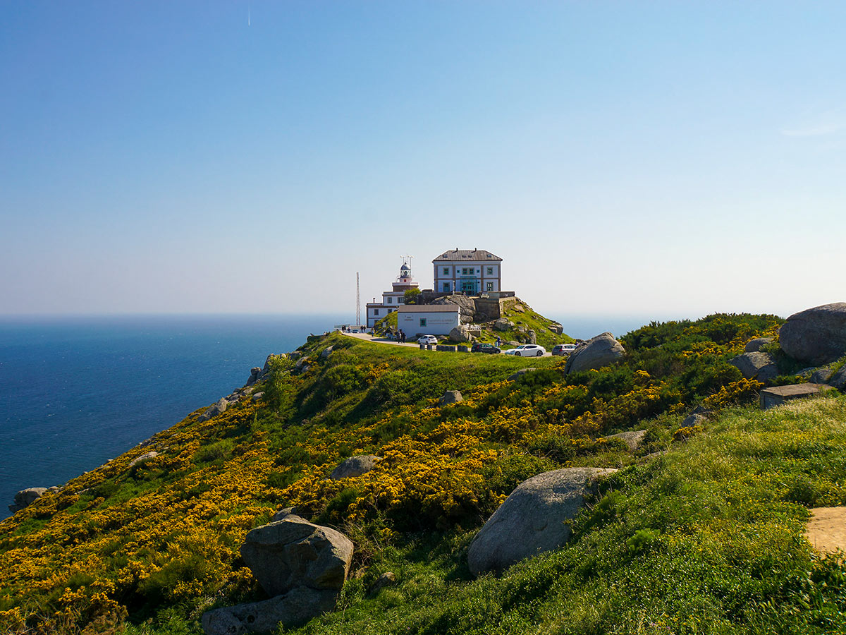 Expansive coastal views near Finisterre seen on Finisterre Way Tour in Northern Spain