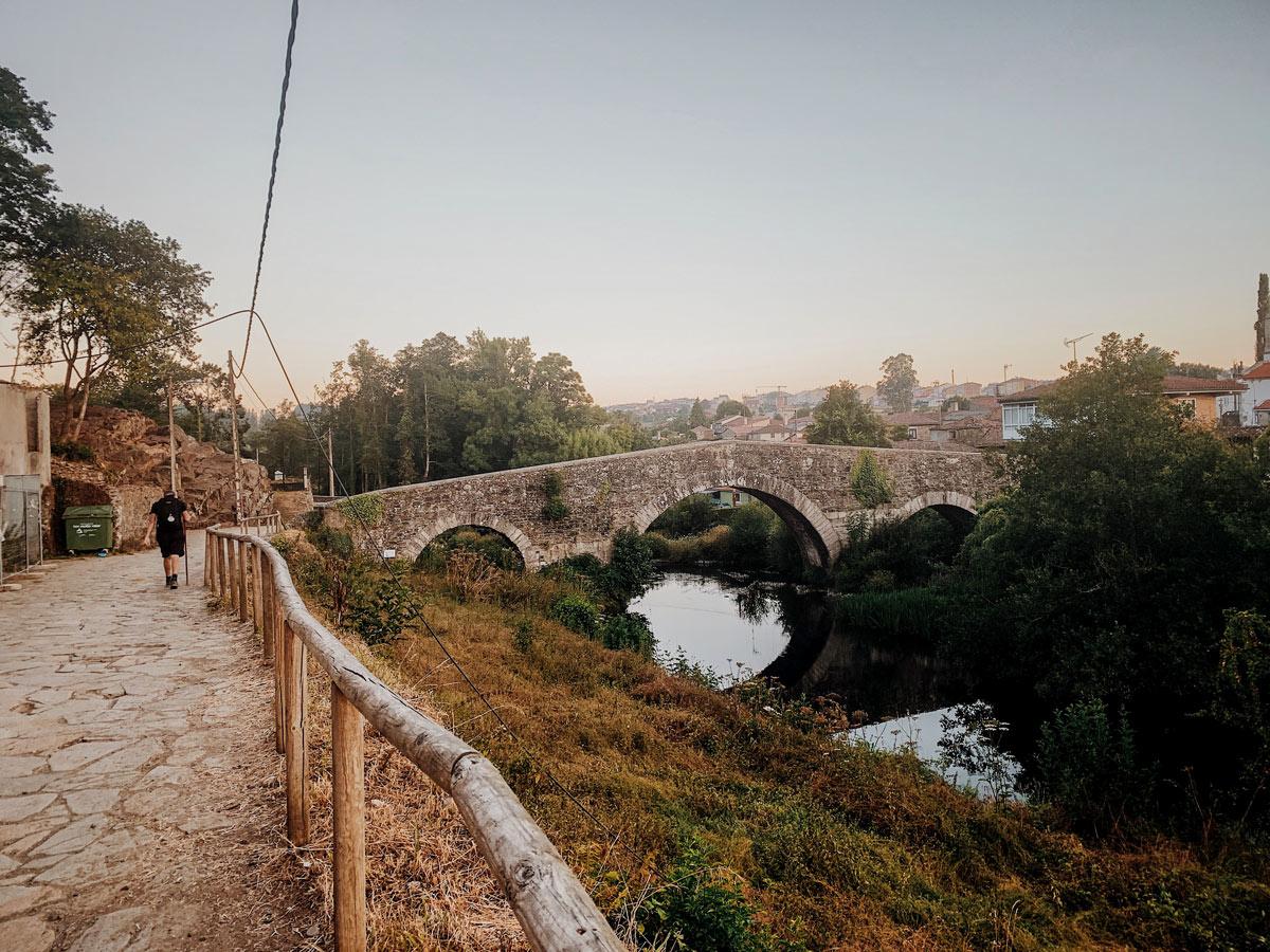 Beauitful village in Northern Spain seen on Camino de Santiago French Way full trek
