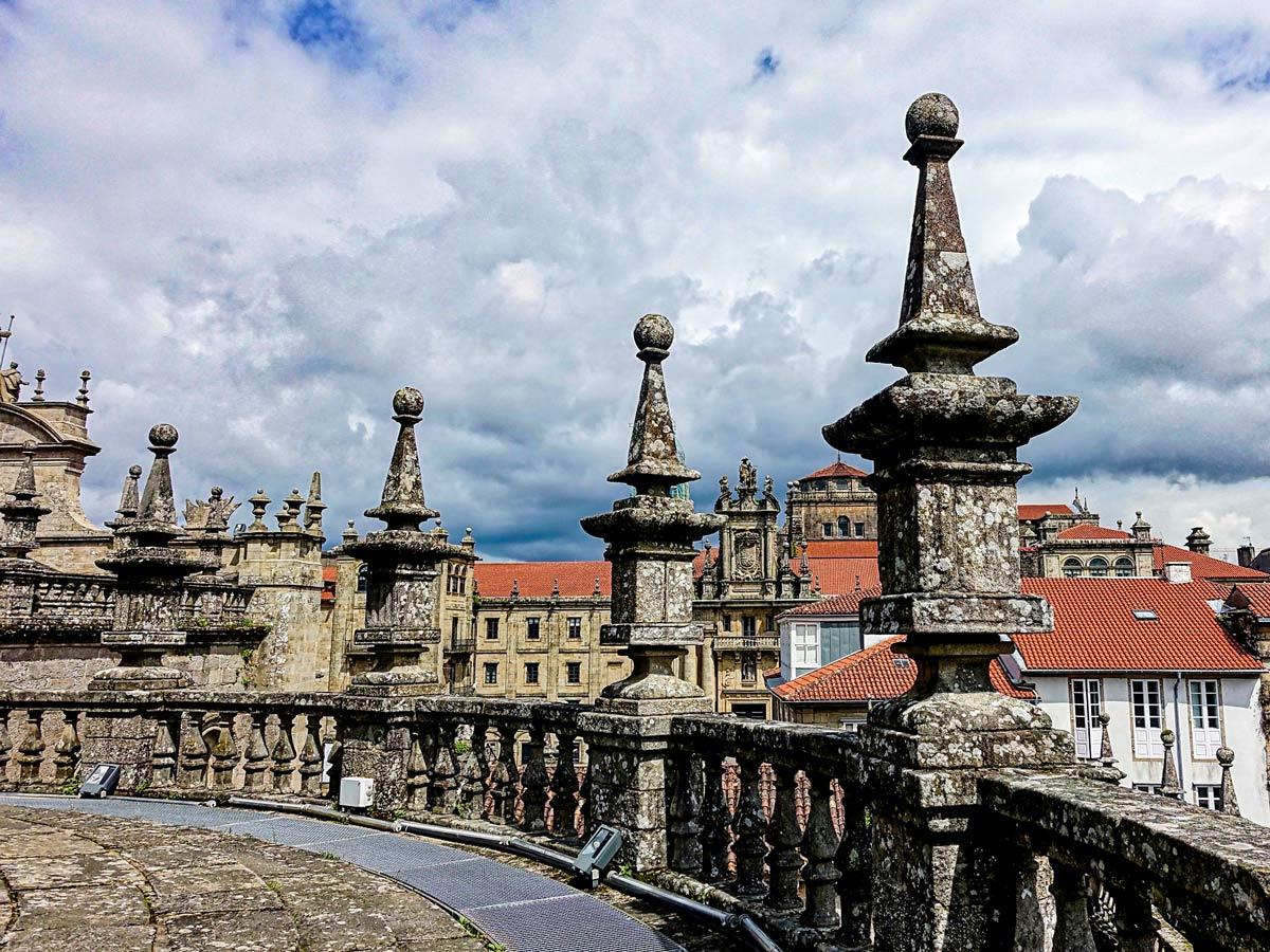 The oldtown of Santiago de Compostela is the highlight of Via de la Plata in Spain